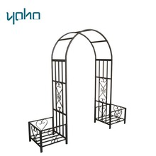 Outdoor Rose Metal Steel frame Garden Arch With Door
