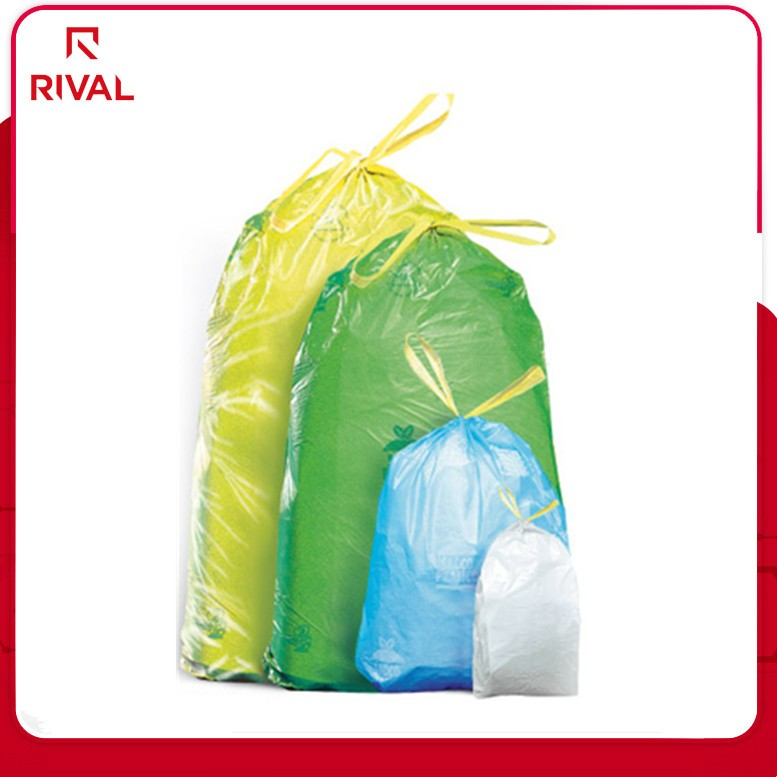 Wholesale extra strong disposable plastic trash bag with drawstring large