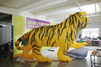 customized new design printed promotional giant inflatable tiger for sale