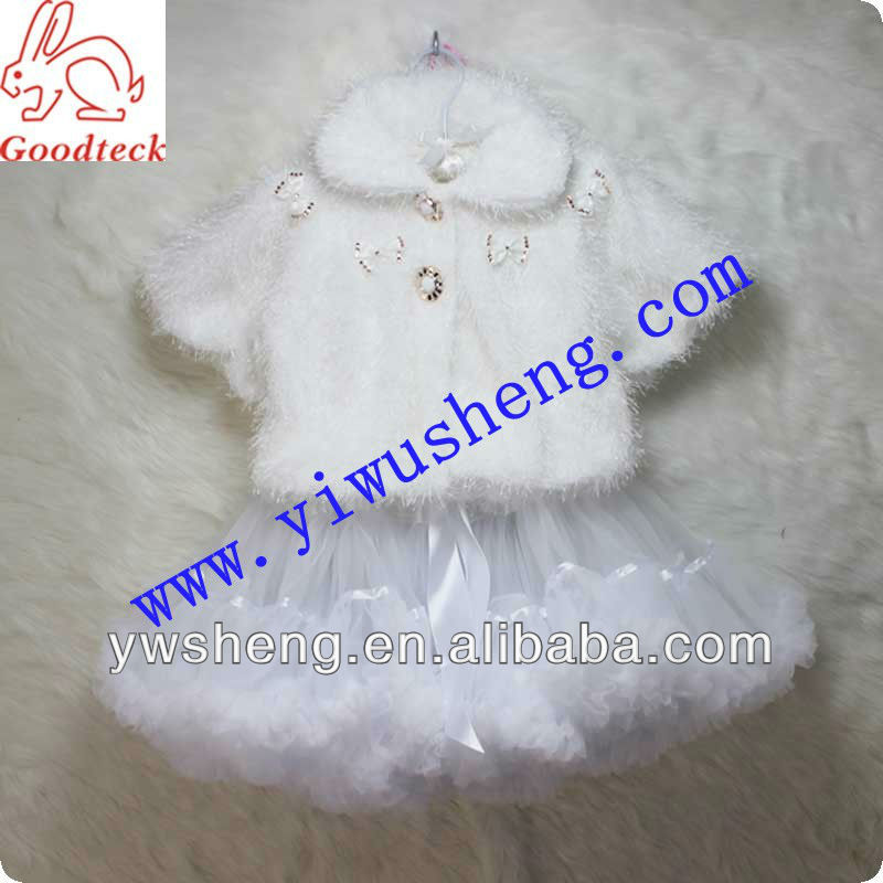 Angel cute winter white baby clothes girls outfit