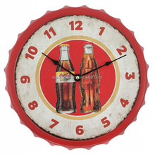 "13"" replica mancave garage cola style bottle cap antique style wall clocks"