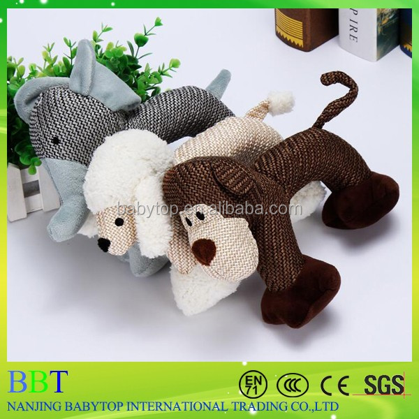 new design pet toys plush tough squeaky rope dog toy