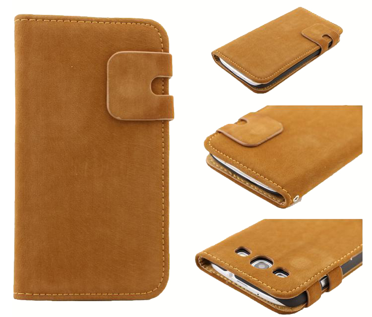 Bulk Buy from China Wallet Leather Phone Accessories Case for Samsung Galaxy S3