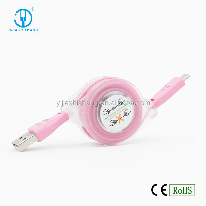 Wholesale noodle flat usb charger cable for smartphone, micro usb data cable