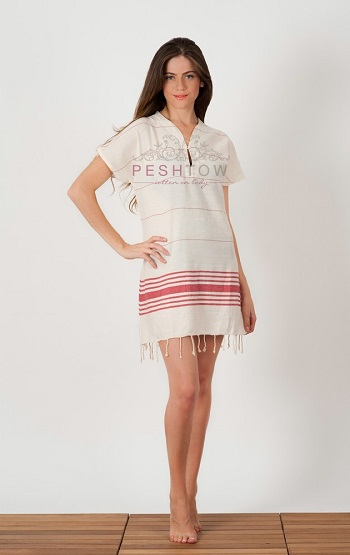 Turkish Towels, Foutas, Stripy Cotton Beach Dress directly from manufacturer in Turkey.