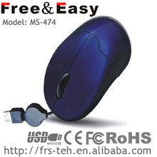 mini personalized retractable cable wireless mouse with special features