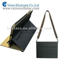 New design for Apple iPad 3 leather case with single shoulder strap