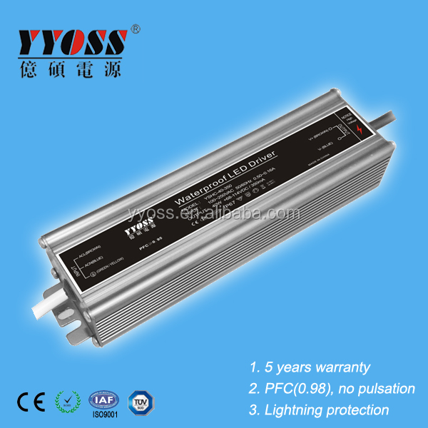 CE/ROHS approved 40W PFC(0.98) 350ma 700ma waterproof led driver with high efficiency