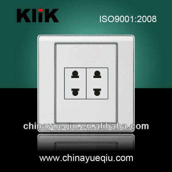 10A 250V Electrical socket switches 2 pin wall socket