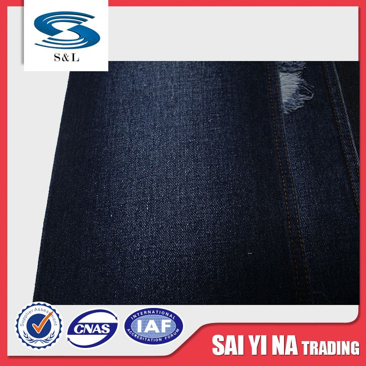 175-2 100%organic cotton 160cm width Piece dyed 350gsm denim fabric for soft shirt