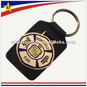 Promotional custom cut keychain leather