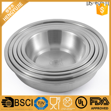 16-26cm deep food tray stainless steel round soup plate 304