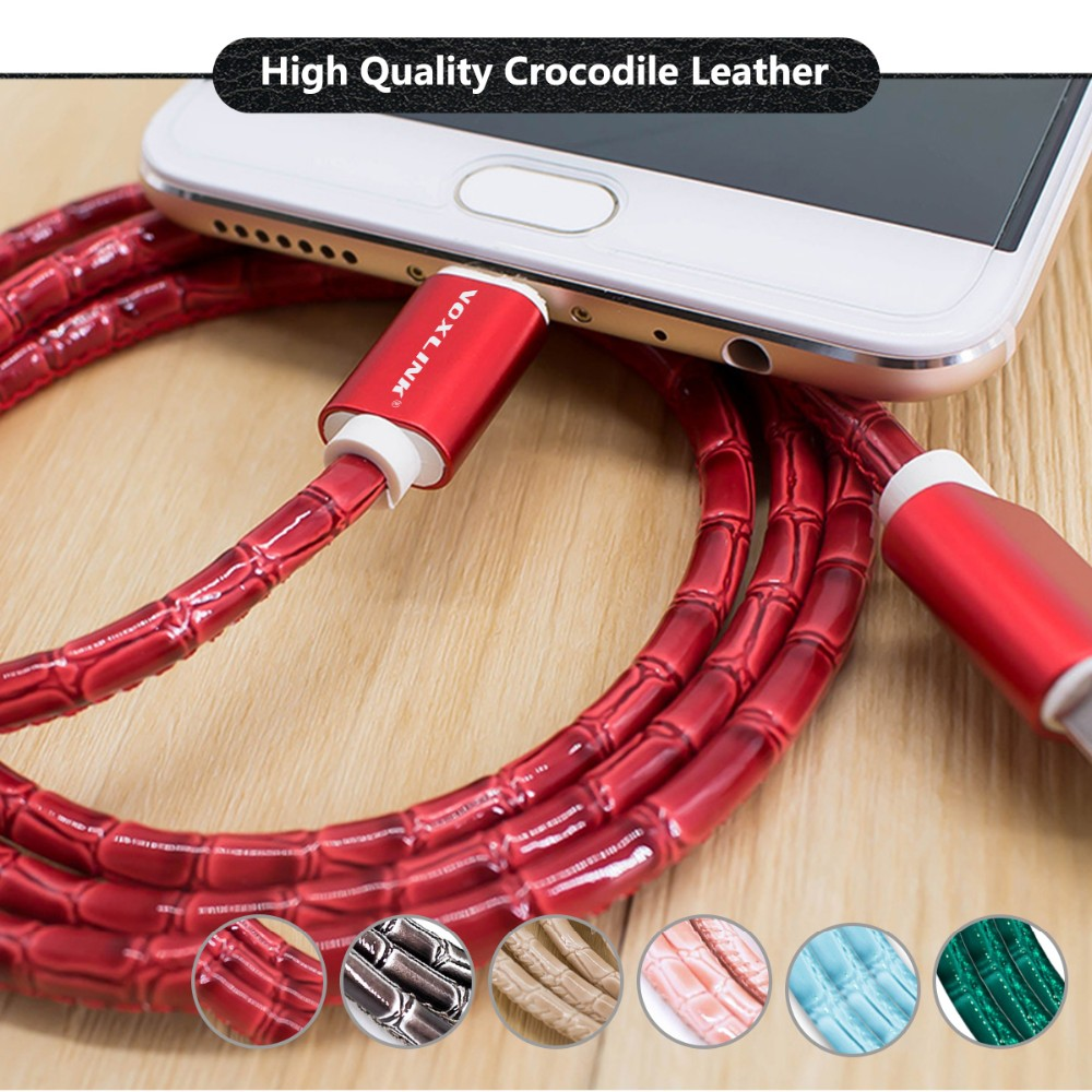VOXLINK 0.25/1m/2m/ Gold Plug Sync usb Charging Cable multi color micro usb cable