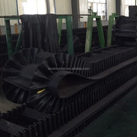 Excellent tough ability corrugated sidewall conveyor belt