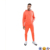Fitted cuffs Pouch pocket Drawstring waistband mens tracksuit slim fit hoodie / skinny joggers in orange training suit