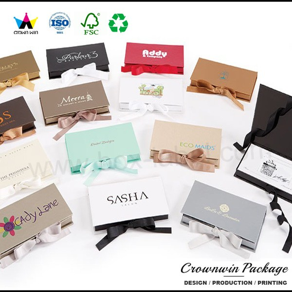 Designer Replica Credit Card And Platform Gift Card Box With Foam Insert