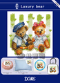 Luxury Bear 11CT Printed on Canvas Cross Stitch Kit Needlework Embroidery Set for Home Decoration