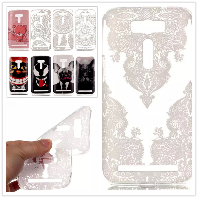 25 Style Soft S-Line Wave TPU Gel Cover Case Skin phone case for Asus Zenfone 2 Laser ZE500KL ZE500KG 5.0 inches Back cover