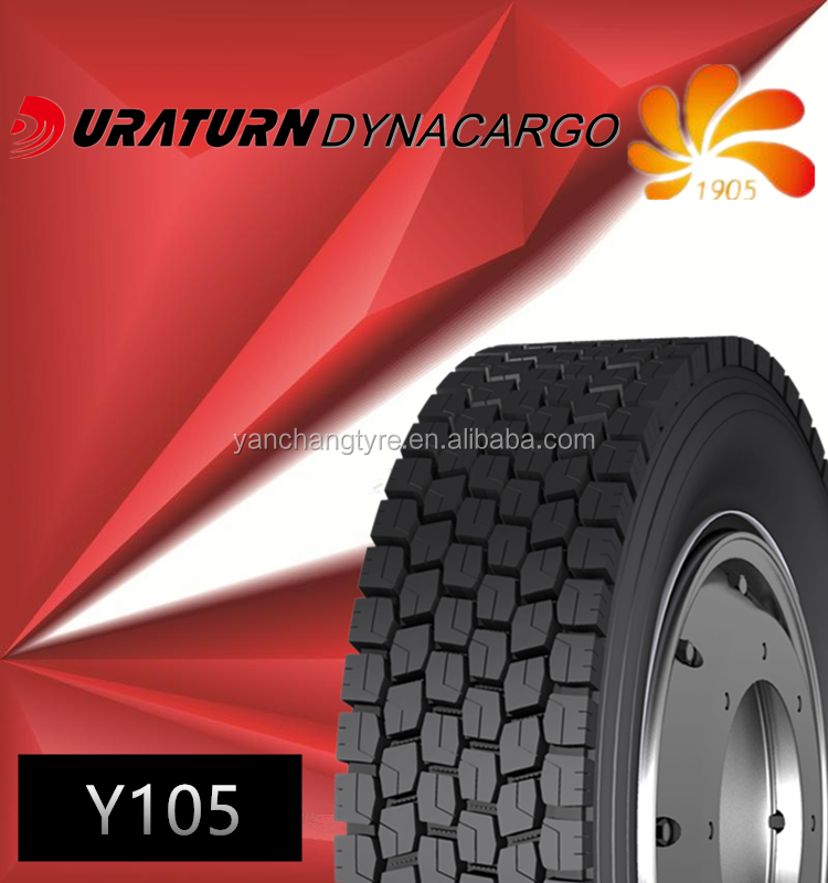 Chinese famous DURATURN brand truck tyre 11R22.5 hot sale in the market Myanmar
