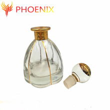 250ml Manufactory home Petal-shape glass whiskey container