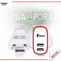 Chinese supplier portable 12v 2a usb home wall dock charger kit for iphone and pad