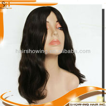 Multidirectional part skin top Jewish wigs