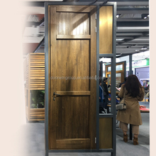Wholesale Factory Price Certificated Fancy Oak Wood Interior Copper Entry Security Doors