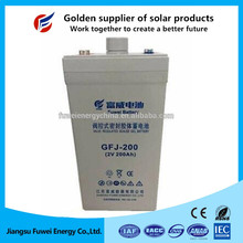 Sealed VRLA maintenance free low discharge gel battery 2V 200Ah