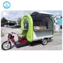 Customized electric rickshaw food cart/mobile food vending van for sale/food van trailer