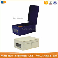 OEM collapsible multi-function metal and fabric non woven storage box