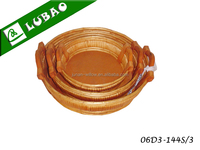 Cheap round handmade small flat wooden dry fruit tray