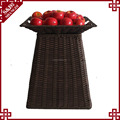 Wholesales handwoven PE rattan plastic shelf for fruit and vegetables