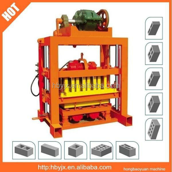 QT4-40 manual concrete block making machine price list in nigeria/brick making machine south africa