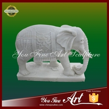 Outdoor garden stone carved elephant animal sculpture