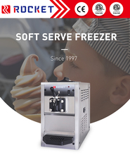 Double control system high overrun table top soft serve ice cream machine production