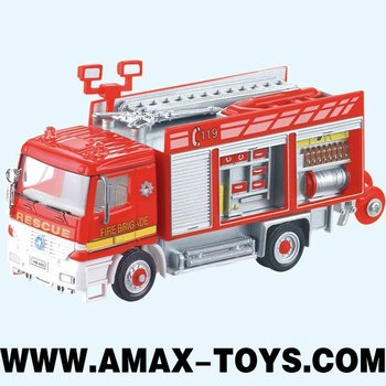 rfe-0099111 die cast rc engine 1:87 Die Cast RC Fire Engine with light(4assorted,2 packages)