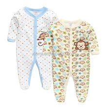 most promotion novel design colorful round dot lovely monkey pattern baby clothes cheap