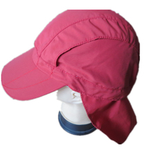 Unisex outdoor UV protection hiking/camping/hunting/fishing cap hat with flap