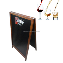 Outdoor Double Sides Standing Wood Blackboard