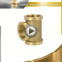 brass new arrive female equal tee stainless steel nipple pipe fitting compression tee