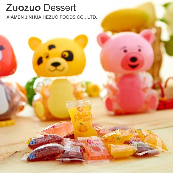 190g cute jelly candy with toy cartoon saving jar for kids