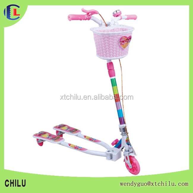 hot sale three wheels kids flicker scooter with pedal(factory)