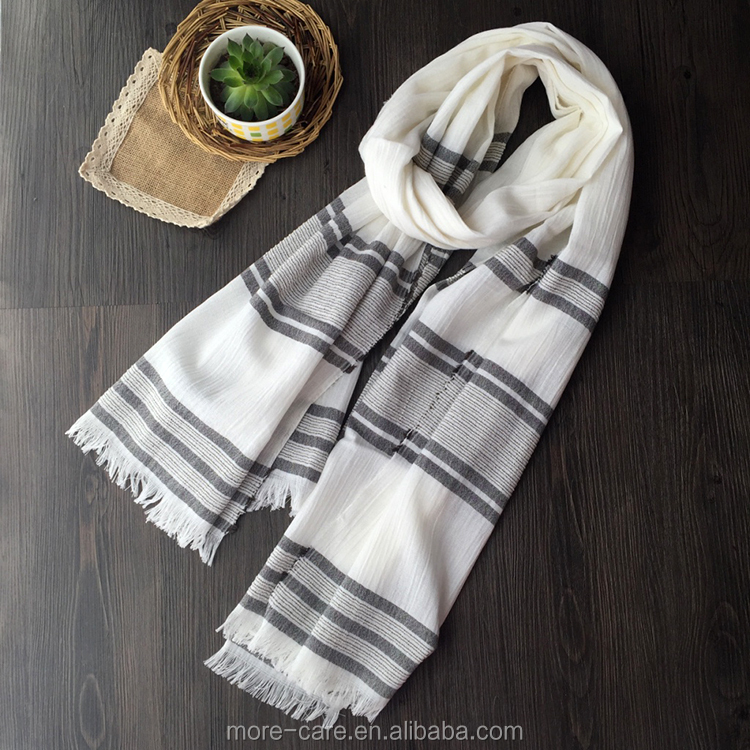 wholesale OEM solid color linen shawl scarf