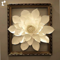 beautiful 3D daisy paper flower in wood photo frame table centerpiece