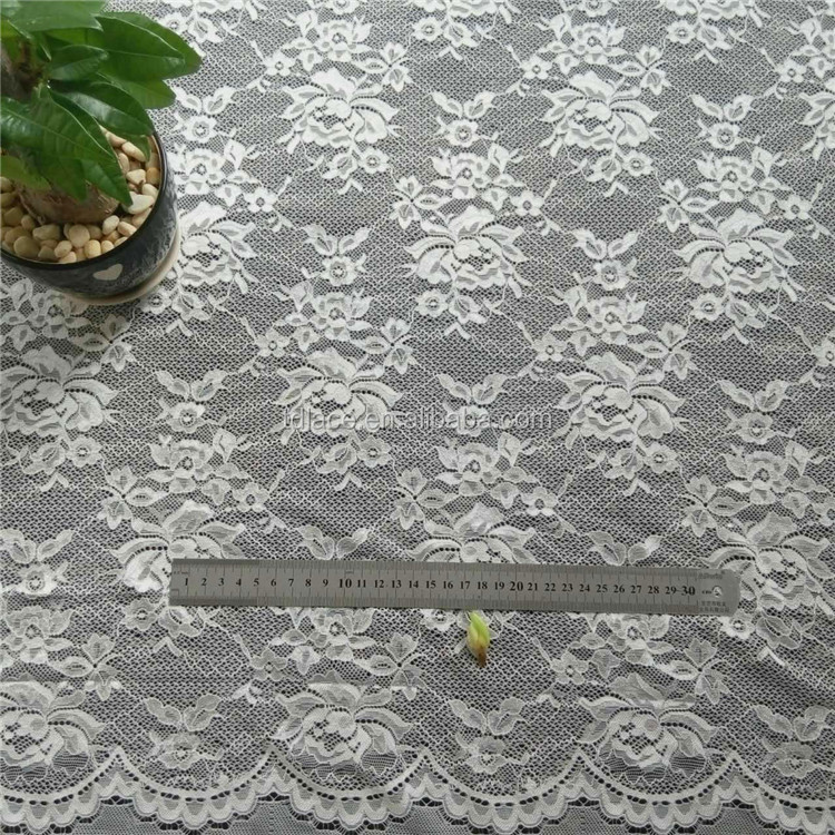 French nylon spandex knitted lace fabric for garment,high grade cord lace fabric