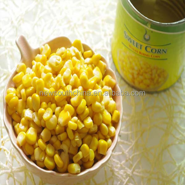 Canned sweetcorn yellow waxy corn