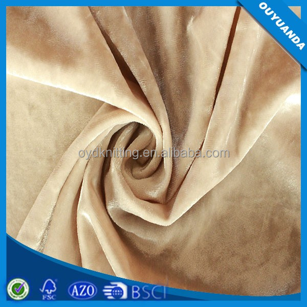Warp Polyester Spandex Stretch Crushed Velvet Dress Fabric/ Petticoat Fabric