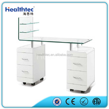 glass table nail salon furniture manicure table