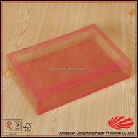 Food packaging transparent plastic storage box with insert