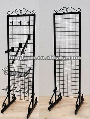 Double-sided Grid Merchandiser /Clothing Retail Display Garment Rack